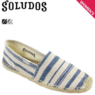 SOLUDOS出售麻底帆布鞋懶漢鞋原始物條紋ORIGINAL ESPADRILLE PAINTED STRIPE帆布亞麻布FOR12 2彩色女士