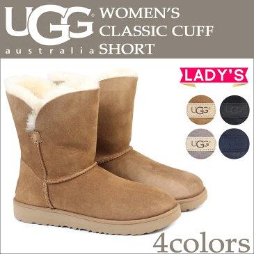 アグ UGG クラシック カフ ショート ムートンブーツ WOMENS CLASSIC CUFF SHORT 1016418 レディース 4カラー