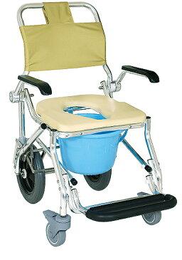 おりたたみ式アルミシャワーキャリー【No.5032 LX-III】・【肘可動式後輪大型車輪】※バケツはついていません。 介護・医療・在宅・施設・自宅・入浴用キャリー・入浴チェアー・シャワーチェアー・入浴椅子・入浴用車椅子・シャワー用車椅子・代引き不可