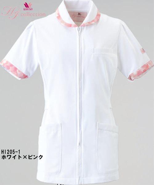 10点選び割引 医療用白衣 メディカルウェアチュニック HI205 (4L)ワコール HI コレクションフォーク (FOLK) お取寄せ