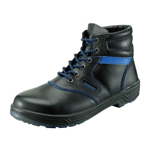 10点選び割引 安全靴 作業靴 セーフティシューズ SL22-BL 黒/ブルー (23.5〜28.0cm(EEE)) シモン...