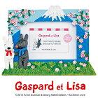 リサとガスパールハンドペイントフォトフレーム「1ウィンドー(にほんへいく)」GL-02271【写真立て】【卓上タイプ】【あす楽】