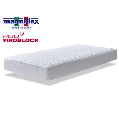 マニフレックス×ハイキュヴィロブロックボックスシーツシングルW100×D195×H11〜27cm用ホワイトお洗濯でき安心してお使い頂けます抗ウイルス効果はお洗濯30回まで持続イタリア製