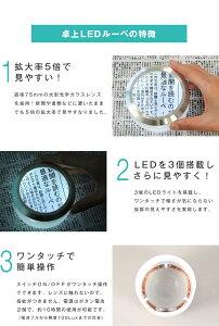 LEDライトルーペ(拡大鏡)