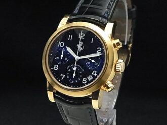 Girard-Perregaux - GIRARD PERREGAUX - Ferrari chronograph Ref.8020 18KYG case / leather Navy Blue Dial 02P18Dec12