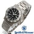 [正規品] スミス&ウェッソン Smith & Wesson スイス トリチウム ミリタリー腕時計 SWISS TRITIUM 357 SERIES EXECUTIVE WATCH TITANIUM SILVER/BLACK SWW-357-T-BLK [あす楽] [ラッピング無料] [送料無料]