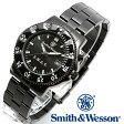 [正規品] スミス&ウェッソン Smith & Wesson ミリタリー腕時計 SWAT WATCH BLACK SWW-45M [あす楽] [ラッピング無料] [送料無料]