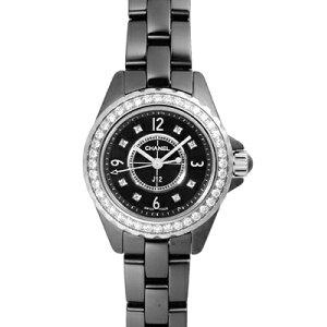 [신제품] 샤넬 H2571 J12 블랙 세라믹 29mm 블랙 8P 다이아몬드 베젤 다이아몬드 숙녀 석영