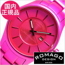 【おひとり様1点限り!】ロマゴデザイン腕時計[ロマゴ時計](ROMAGO DESIGN 腕時計 ロマゴ デザイン 時計) スーパーレジェーラ (Super leggera) メンズ時計 ピンク RM029-0290AL-PK[送料無料][プレゼント ギフト][あす楽]