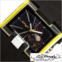 【おひとり様1点限り!】エドハーディー腕時計 EdHardy時計 Ed Hardy 腕時計 エド ハーディー 時計 メンズ ブラック ホワイト EDHARDY-HR2-YW[アナログ ブランド][プレゼント ギフト][あす楽]