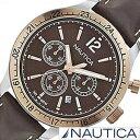 【おひとり様1点限り!】【30%OFF】ノーティカ 時計 NAUTICA 腕時計 ノーティカ 時計 スポーツクロノクラシック クラシック スポーティ カジュアル BFD104 CLASSIC SPORTY CASUAL メンズ ブラウン A17637G[アナログ おしゃれ][送料無料][プレゼント ギフト][あす楽]