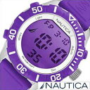 【おひとり様1点限り!】ノーティカ腕時計 NAUTICA時計 NAUTICA 腕時計 ノーティカ 時計 NSR100 MOD メンズ 液晶(パープル) A09931G[正規品 人気 スポーティー ブランド][送料無料][プレゼント ギフト][あす楽]