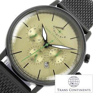 トランスコンチネンツ腕時計TRANSCONTINENTS時計TRANSCONTINENTS腕時計トランスコンチネンツ時計メンズ/ゴールドTAQ-8802-07[アナログ限定50本おしゃれトラコンメタルバンドブラックゴールド銀黒金7針][送料無料][プレゼント][][ポイント10倍]