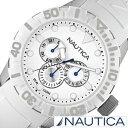 【おひとり様1点限り!】ノーティカ腕時計 NAUTICA時計 NAUTICA 腕時計 ノーティカ 時計 ジェリー NSR100 JELLY MULTI メンズ ホワイト A13639G[アナログ 2015 NEW MODEL orologio オールホワイト シルバー 白 銀 6針][送料無料][プレゼント ギフト]