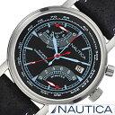 【おひとり様1点限り!】ノーティカ腕時計 NAUTICA時計 NAUTICA 腕時計 ノーティカ 時計 NFB01 メンズ ブラック NAI17503G[アナログ クロノグラフ 2015 NEW MODEL orologio シルバー 黒 銀 6針][送料無料][プレゼント ギフト][あす楽]