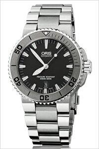[送料無料][ポイント10倍][正規品2年保証]オリス腕時計ORIS時計ORIS腕時計オリス時計ダイバーアクイスデイトDivingAquisDateメンズ/グレー733.7653.4153M[機械式/自動巻き/300m防水/防水/グレー]