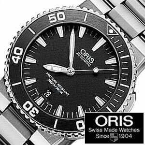 [送料無料][ポイント10倍][正規品2年保証]オリス腕時計ORIS時計ORIS腕時計オリス時計ダイバーアクイスデイトDivingAquisDateメンズ/ブラック733.7653.4154M[機械式/自動巻き/300m防水/防水/ブラック]
