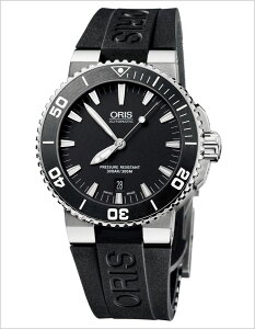 [送料無料][ポイント10倍][正規品2年保証]オリス腕時計ORIS時計ORIS腕時計オリス時計ダイバーアクイスデイトDivingAquisDateメンズ/ブラック733.7653.4154R[機械式/革ベルト/自動巻き/300m防水/防水/ブラック]