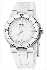[送料無料][ポイント10倍][正規品2年保証]オリス腕時計ORIS時計ORIS腕時計オリス時計ダイバーアクイスデイトDivingAquisDateメンズ/ホワイト733.7653.4156R[機械式/革ベルト/自動巻き/300m防水/防水/ホワイト]