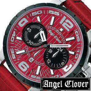 [レビューを書いて3年保証]エンジェルクローバー腕時計AngelClover時計AngelClover腕時計エンジェルクローバー時計タイムクラフトTIMECRAFTメンズ/レッドNTC48SRE-RE[アナログ/クロノグラフ/防水/レッドコレクション/シルバー/ブラック]