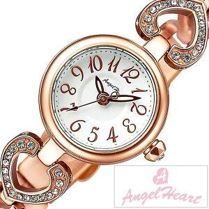 [レビューを書いて3年保証]エンジェルハート腕時計AngelHeart時計AngelHeart腕時計エンジェルハート時計ピンキーハートPinkyHeartレディース/シルバーPH19BRPG[アナログ/クリスタル/ストーン/ローズ/ピンクゴールド/ホワイト/ハート/ブレスウォッチ]