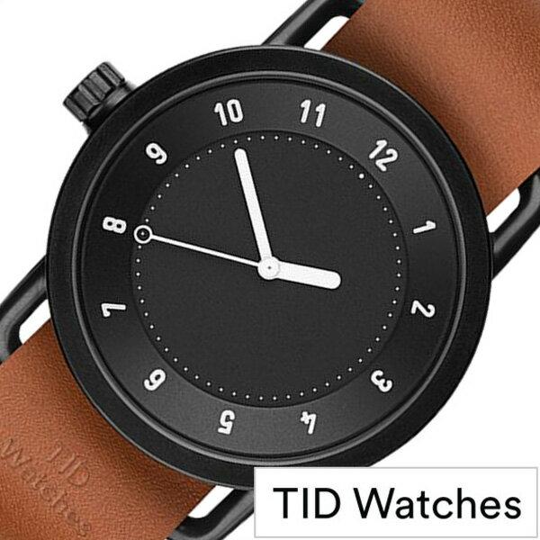 ティッドウォッチ腕時計 TIDWatches時計 TID Watches 腕時計 ティッド TIDウォッチ 時計 TID腕時計 メンズ レディース ユニセックス 男女兼用 ブラック TID01-BK-T[革 ベルト おしゃれ 防水 北欧 アナログ ブラウン][送料無料][プレゼント ギフト][B]:セレクト腕時計のお店 WATCH-LAB