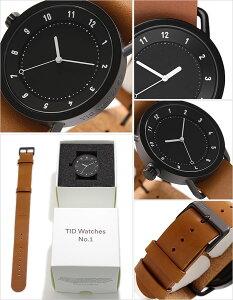 ティッドウォッチ腕時計TIDWatches時計TIDWatches腕時計ティッドウォッチ時計TIDメンズ/レディース/ユニセックス/男女兼用/ブラックTID01-BK-T[革ベルト/おしゃれ/防水/替え/北欧/アナログ/ブラウン/ホワイト]