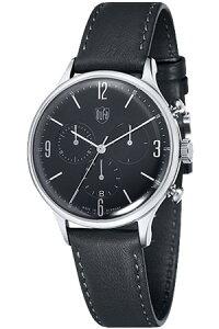 [送料無料][ポイント10倍]ドゥッファ腕時計DUFA時計DUFA腕時計ドゥッファ時計ミース・クロノMiesChronoメンズレディースユニセックス/男女兼用/ブラックDF-9002-01[ブラック革ベルトアナログおしゃれ正規品ドイツ製バウハウスドッファデュッファ]