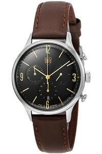[送料無料][ポイント10倍]ドゥッファ腕時計DUFA時計DUFA腕時計ドゥッファ時計ミース・クロノMiesChronoメンズレディースユニセックス/男女兼用/ブラックDF-9002-02[ブラック革ベルトアナログおしゃれ正規品ドイツ製バウハウスドッファデュッファ]
