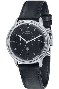 [送料無料][ポイント10倍]ドゥッファ腕時計DUFA時計DUFA腕時計ドゥッファ時計ハンネス・クロノHannesChronoメンズレディースユニセックス/男女兼用/ブラックDF-9003-01[ブラック革ベルトアナログおしゃれ正規品ドイツ製バウハウスドッファデュッファ]