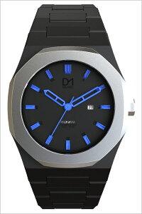 [ポイント10倍][送料無料]ディーワンミラノ腕時計D1MILANO時計D1MILANO腕時計ディーワンミラノ時計プレミアムPREMIUMメンズ/レディース/ブラックPR03[人気/新作/イタリア/ブランド/防水/正規品/ブラック/シルバー/ブルー]