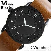 ティッドウォッチ腕時計 36mm TIDWatches時計 TID Watches 腕時計 ティッド ウォッチ 時計 TID No. 1 レディース ブラック TID01-BK36-T[革 ベルト 正規品 おしゃれ 替え 北欧 ブラウン ホワイト][送料無料][プレゼント ギフト][B]
