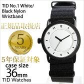 ティッドウォッチ腕時計 36mm TIDWatches時計 TID Watches 腕時計 ティッド ウォッチ 時計 TID No. 1 レディース ホワイト TID01-WH36-NBK[NATO ベルト 正規品 おしゃれ 替え 北欧 ブラック ナトー][送料無料][プレゼント ギフト][B]