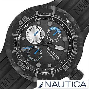 [ノーティカ腕時計NAUTICA時計NAUTICA腕時計ノーティカ時計メンズ/ブラックA16681G[正規品/腕時計/ウォッチ/人気/新作/ブランド/トレンド/シリコンベルト][送料無料]