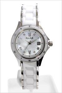 ルビンローザ腕時計RubinRosa時計RubinRosa腕時計ルビンローザ時計レディース/ホワイトR306SWHMOP[人気/流行/ブランド/防水/かわいい/メタル/セラミック/ジルコニア/ソーラー][送料無料][プレゼント/ギフト][]