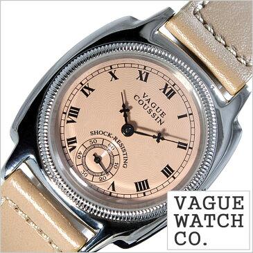 ヴァーグ ウォッチ コー腕時計 VAGUE WATCH Co.時計 VAGUE WATCH Co. 腕時計 ヴァーグ ウォッチ コー 時計 クッサン COUSSIN メンズ ピンクベージュ CO-L-004[正規品 人気 流行 ブランド 防水 レザー 革 シルバー][送料無料][プレゼント ギフト]