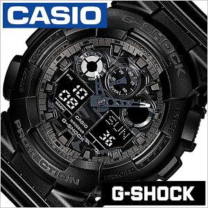 カシオ腕時計CASIO時計CASIO腕時計カシオ時計GショックG-SHOCKメンズ/ブラックCASIO-GA-100CF-1AJF[アナデジ/デジタル/クオーツ/正規品/防水/液晶/ストップウォッチ/オールブラック][送料無料][プレゼント/ギフト]