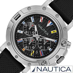 ノーティカメンズ時計NAUTICA腕時計ノーティカ時計クロノフラッグスNST800CHERONOFLAGSブラックNAD17527G[正規品人気ブランド防水スポーツアウトドアシリコンホワイトシルバー][送料無料][バーゲンセールプレゼントギフト]