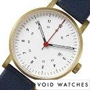 ヴォイド時計VOID腕時計メンズレディースホワイトVID020068[正規品北欧ミニマルシンプル個性的インテリア人気ブランドプレゼントギフト革レザーペアウォッチユニセックスデザイナーウォッチファッションコーデブルー][送料無料]