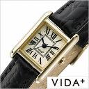 [当日出荷] ヴィーダプラス腕時計 VIDA+時計 VIDA+ 腕時計 ヴィーダプラス 時計 ミニレクタンギュラー Mini Rectangular レディース アイボリー J83904-LE-BK 正規品 新作 防水 人気 革 レザー ベルト レクタンギュラー型 スクエア型 ゴールド ブラック 春 お祝い