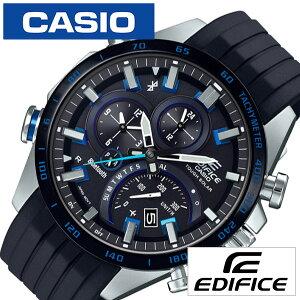 カシオ エディフィス スマートウォッチ ソーラー 電波 時計 CASIO EDIFICE 腕時計 メンズ ブラック EQ...