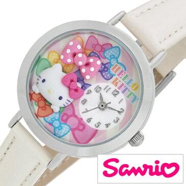 サンリオ ハローキティ 日本製 時計 Sanrio Hello Kitty 腕時計 レディース キッズ ウォッチ ホワイト MJSR-F03[アナログ かわいい おしゃれ 人気 女性 子供 ジュニアサイズ 男の子 女の子 キャラクター 誕生日 入学 卒業 祝い プレゼント ギフト小学生 中学生 高校生]