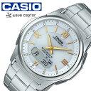 カシオ ウェーブセプター ソーラー 電波 時計 CASIO WAVE CEPTOR 腕時計 メンズ ...