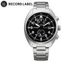 [当日出荷] シチズン 腕時計 レコードレーベル スタンダードスタイルプラス CITIZEN RECORD LABEL Standard Style + メンズ ブラック シルバー 時計 CA7040-85E 人気 おすすめ おしゃれ ブランド プレゼント ギフト