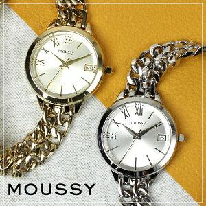 [ポイント10倍][送料無料]マウジー腕時計MOUSSY時計[MOUSSY]腕時計マウジー時計マウジーダブルチェインMOUSSYDoubleChainレディース/ゴールドWM00311A[アナログメタルバンドオールゴールド通販人気]