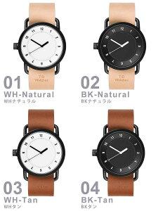 ティッドウォッチ腕時計TIDWatches時計TIDWatches腕時計ティッドウォッチ時計TIDメンズ/レディース/ユニセックス/男女兼用/ブラックTID01-BK-W[革ベルト/おしゃれ/防水/替え/北欧/アナログ/ダークブラウン/ホワイト]