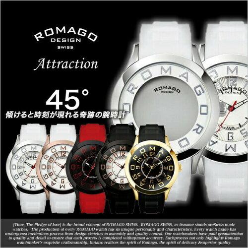 ロマゴデザイン腕時計 ロマゴ時計(ROMAGO DESIGN 腕時計 ロマゴ デザイン 時計)アトラクション シ...