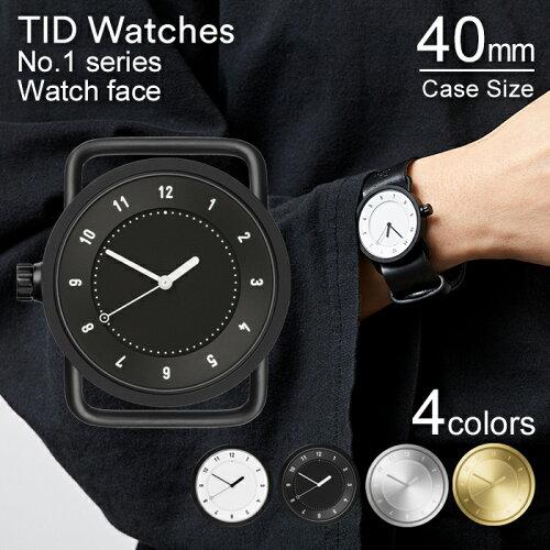 ティッドウォッチズ 時計 本体 40mm ホワイト ブラック シルバー ゴールド No.1 TID Watches 腕時...