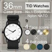 ティッドウォッチ 時計 ホワイト ブラック シルバー ゴールド No.1 TIDWatches時計 36mm TID Watches No.1 腕時計 ティッド TIDウォッチ 時計 TID腕時計 メンズ レディース ユニセックス 男女兼用[NATO ベルト おしゃれ 北欧 アナログ ナトー][送料無料][B]