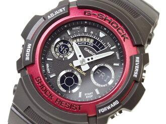 CASIOカシオ Gショック アナログ×デジタルWrist watchRed 海外Model AW-591-4A